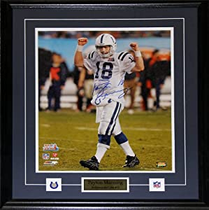 Peyton Manning Indianapolis Colts Signed 16x20 frame by Midway Memorabilia