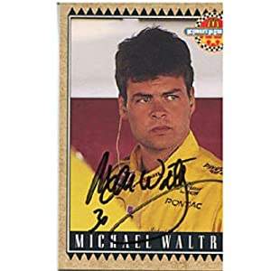 Michael Waltrip Autographed Signed 1992 McDonalds Card by Hollywood Collectibles