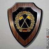 Wappenschild / Wandschild - Heeresaufklärer Barett Abzeichen Bundeswehr BW Wappen #7399