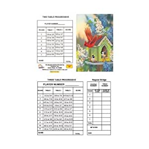 Bridge Tallies - Summer Hummer - (12 Pack) 2 & 3 Table Progessive