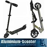 Tatoo ALU BigWheel Roller Scooter Cityroller Tretroller ABEC 7 Präzisions Kugellager ** Trittfläche 54cm, max. Belastbarkeit 100kg **