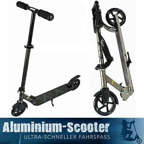 Scooter Tatoo ALU Bigwheel-Trotinette , Portant avec billes de précision ABEC 7, un Plateau (pose-pied) de 54cm ** une capacité de charge de 100 kg **