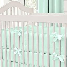 Carousel Designs Solid Mint Crib Bumper