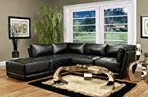 Big Sale 4 piece Kayson Sectional and Ottoman in Black Finish