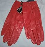 Ladies primark red leather driving gloves size M / L