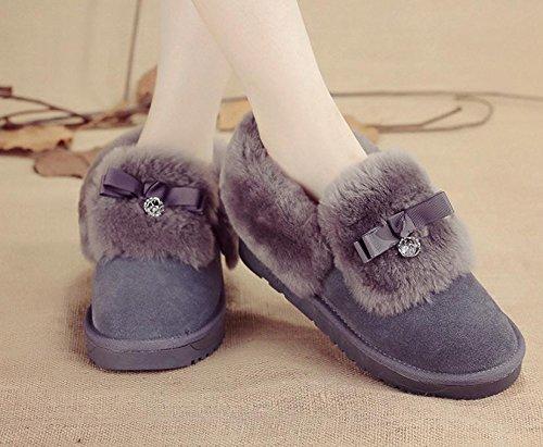 Hiver neuf tube court arc cršŠpu plume fourrure bottes Mesdames mouton cuir fourrure chaussures mocassins raquettes š€ neige