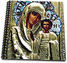 3dRose db5251 Russian Icon of The Blessed Mary Drawing Book 8 by 8-Inch