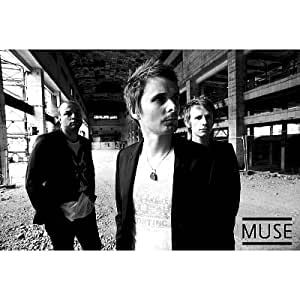 Muse Group Black and White Music Poster Print