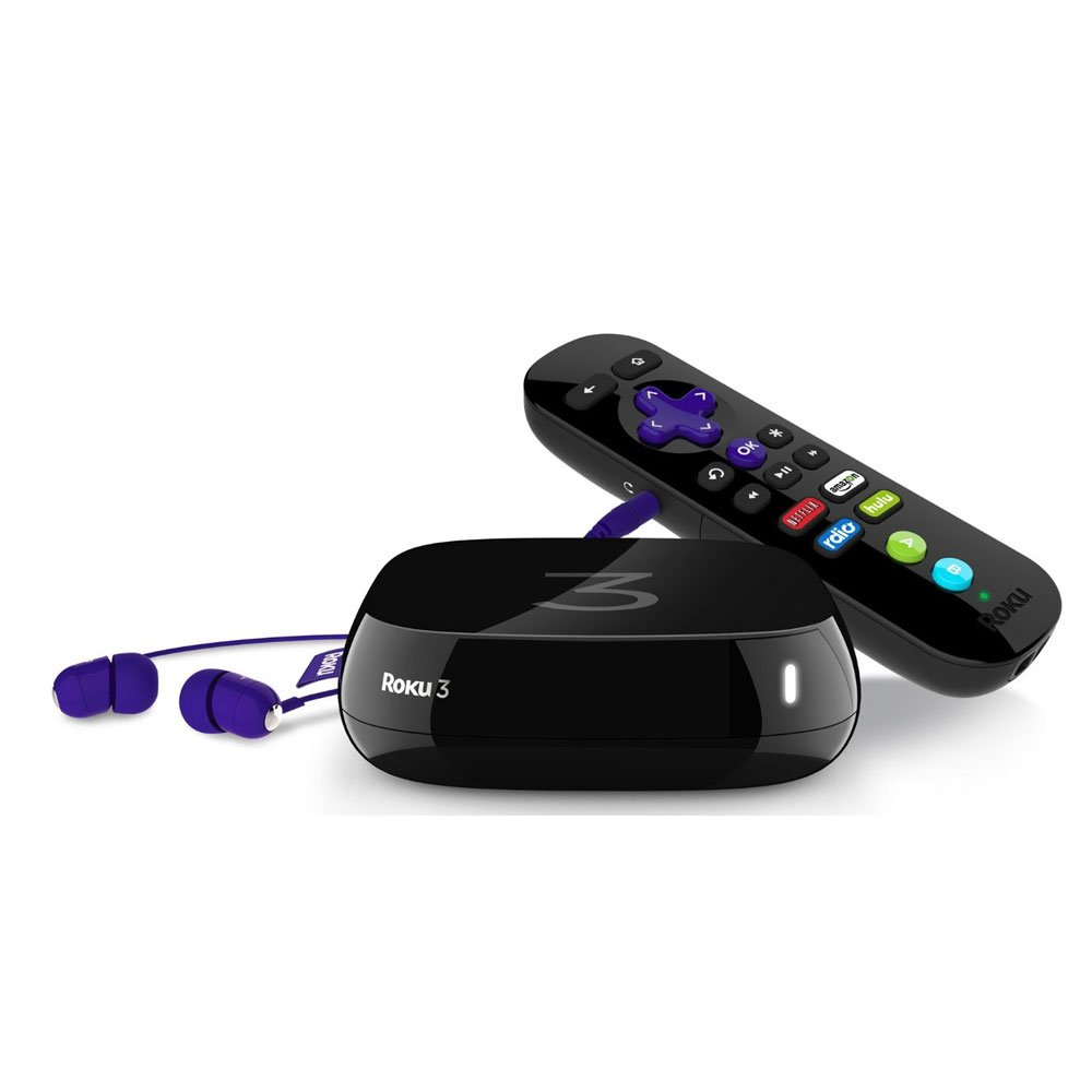 Roku 3 streaming media player and remote