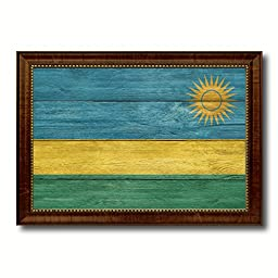 Rwanda National Textured Flag Art Country Custom Picture Frame office Wall Home Decor Gift Ideas, 15\