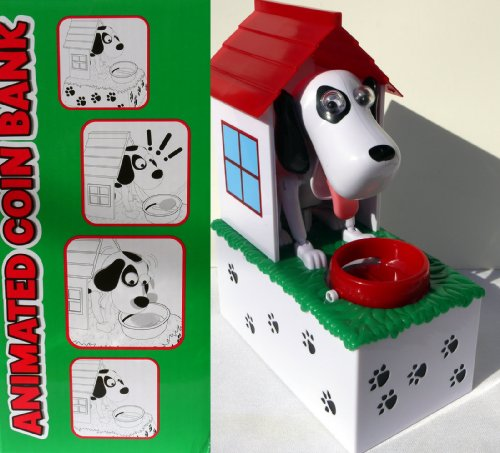Animated Coin Bank - Dog in Doghouse - 1