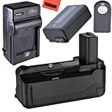 Battery Grip Kit for Sony Alpha a6000 DSLR Camera (BG-3D replacement) - Includes Qty 1 Replacement NP-FW50 Battery + Rapid AC/DC Battery Charger + Vertical Battery Grip
