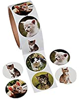 Adorable Kitty Cat Stickers / Kitten / KITTIES / CLASSROOM Rewards / COLLECTIBLE / PARTY FAVORS / Roll of 100