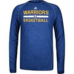 Golden State Warriors Heather Blue Climalite Practice Long Sleeve Shirt by Adidas by adidas