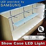 Crystal Vision Premium Samsung Pre-Installed LED Kit for Showcase, Display Case, Under Cabinet LED & Dressing Room Mirror - 12.5ft (W/ Remote Controller)