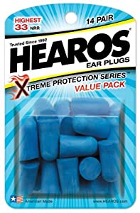 Hearos Ear Plugs Xtreme Protection, 14-Pair Foam (Pack of 6)
