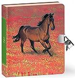 Peaceable Kingdom / Wild Horse Lock & Key Diary
