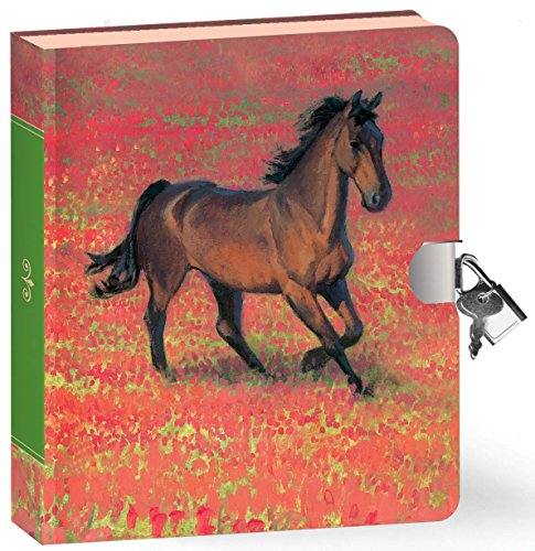 Peaceable Kingdom Wild Horse Lock and Key Diary - 1