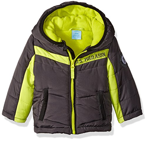us-polo-assn-baby-boys-heavyweight-bubble-jacket-charcoal-lime-zippers-24-months