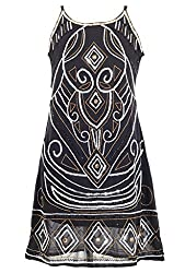 Sakhee Women's Cocktail Tunic Dress (1059_Black_XX-Large)