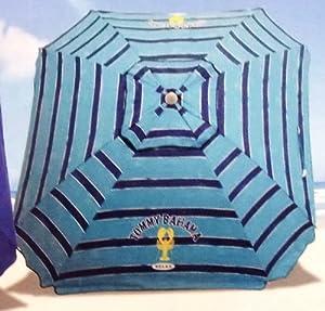 Tommy Bahama 2013 Beach Umbrella 7 Foot w/Tilt, Wind Vent, Sand Anchor - color choice (Blue Stripe)
