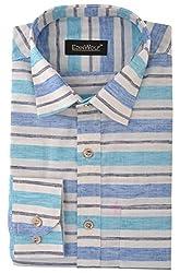 Edinwolf Men's Formal Shirt (EDFR705_41, Multi-Coloured, 41)