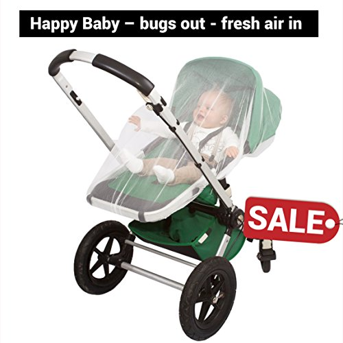 50% OFF | Baby Mosquito Net fits most Strollers Carriers Car Seats Cradles by #1 EVEN Naturals | Free Gift Bag & eBook | 100% Satisfaction Guarantee | Soft Durable Insect Netting Fly Screen Protection (Baby Mesh Car Seat Cover compare prices)