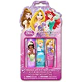 Disney Princess Kiss It Paint It Set In Pvc Pouch, 3 Count By Disney Princess