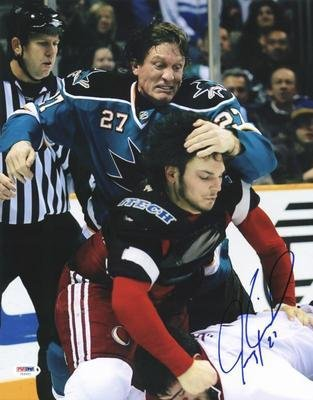 Jeremy Roenick Signed Picture - Sharks 11X14 #U52941 - Psa/Dna Certified - Autographed Nhl Photos front-602917