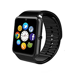 IRONLINK Smartwatch GT08 Bluetooth Smart Watch Phone with Sim Card Solt anti-lost Call reminder Phone Mate (Black)