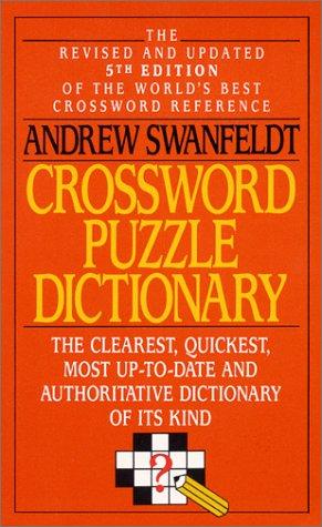 Crossword Puzzle Dictionary, Andrew Swanfeldt