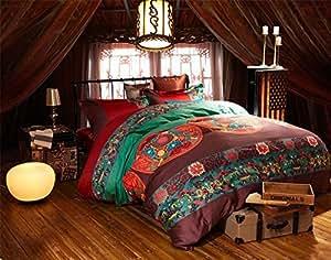 joybuy housse de couette 100 coton agrafes longue style. Black Bedroom Furniture Sets. Home Design Ideas