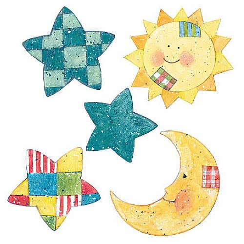 Wallies 12994 Susan Winget Sun, Moon and Stars Wallpaper Cutout