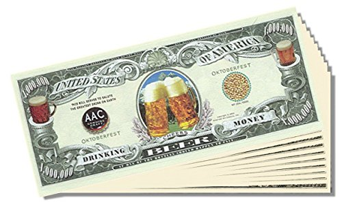 Beer Million Dollar Bill - 25 Count with Bonus Clear Protector & Christopher Columbus Bill