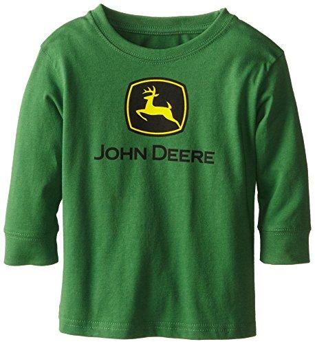 John Deere Little Boys' Long Sleeve Logo Tee, Green, 4T front-1065360
