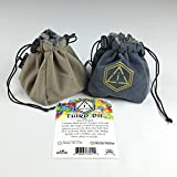 Third Die Dice Bag - Handcrafted And Reversible Drawstring Bag That Stands Open On The Table - For A