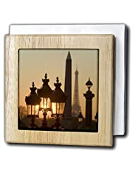 Danita Delimont - Paris - Place de la Concorde, Eiffel Tower, Paris, France - EU09 DBN0760 - David Barnes - Tile Napkin Holders - 6 inch... by 3dRose