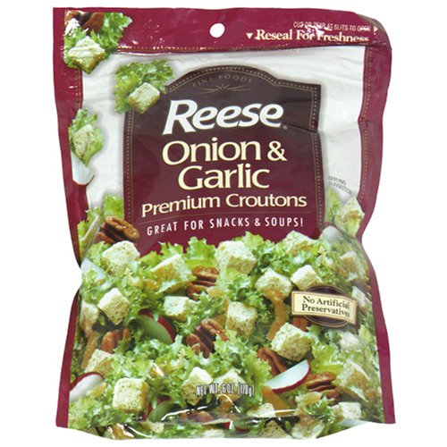 Buy Reese Croutons Onion and Garlic Croutons, 6.0-Ounce Bags (Pack of 12) (Reese, Health & Personal Care, Products, Food & Snacks, Baking Supplies)