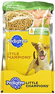 PEDIGREE LITTLE CHAMPIONS Meaty Ground Dinner With Turkey Wet Food for Small Dogs, 5.3-Ounce Pouches (Pack Of 24)