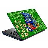 MeSleep Green Peacock Laptop Skin