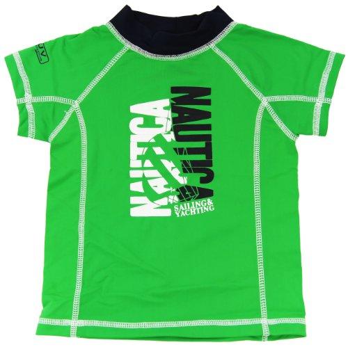 Nautica Baby Boys Infant Rash Guard Swim Top Tee Shirt, Green, 12M front-1058875