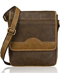 Laurels Weekender Fine Quality Brown Color Unisex Messenger Bag (LMG-WKDR-090609)