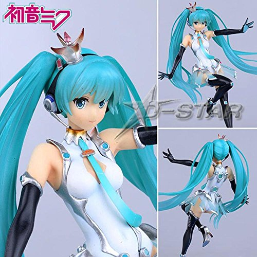 "Flying Cola 6Pcs 8"" Vocaloid Racing Hatsune Miku Race The 2Nd Ver. Boxed Pvc Action Figure Collection Modelt Toy"