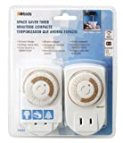Woods 50006 Indoor 24-Hour Mechanical Outlet Timer, Daily Settings, 2-Pack