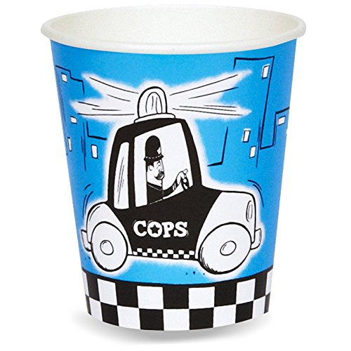Police Party Cops and Robbers Party 9 oz. Paper Cups (8)