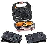 【数量限定 Amazon.co.jp 限定モデル】 Vitantonio タルトも作れるバラエティサンドベーカー 特別セット(ホットサンド・たい焼き・タルトレットプレート付き)ピンク PWS-1000-AM