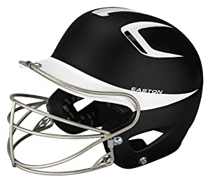 Easton Two-Tone Natural Grip Senior Batting Helmet with Mask by Easton