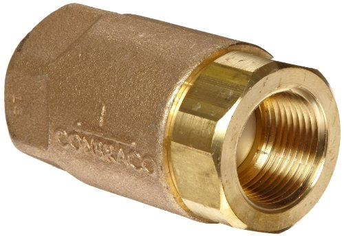"Apollo 61-100 Series Bronze Check Valve, Ball Cone, 1/2"" NPT Female"