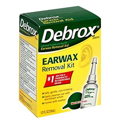 Debrox Earwax Removal Aid Kit, Washer & Drops, 0.5-Ounce Bottles (Pack of 2) by Debrox
