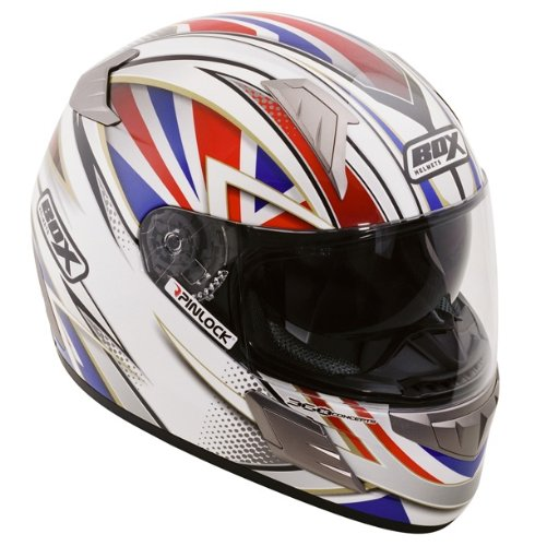 OXFORD BOX BZ-1 PATRIOT FULLFACE SCOOTER MOTORCYCLE HELMET, SMALL